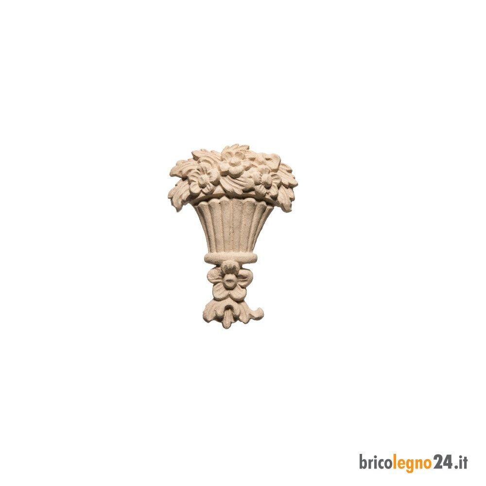 Fregio Vaso Fiori In Pasta Di Legno Mis Cm 9 2x13 3x2 5 Shop